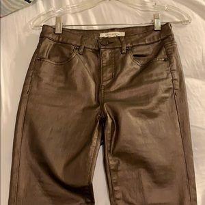 Metallic copper jeans